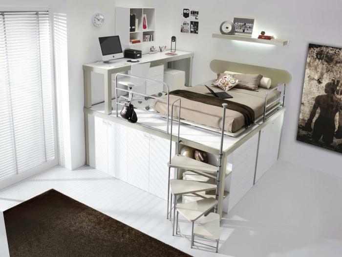 Разные уровни помогут более рационально использовать жилую площадь квартиры-студии.