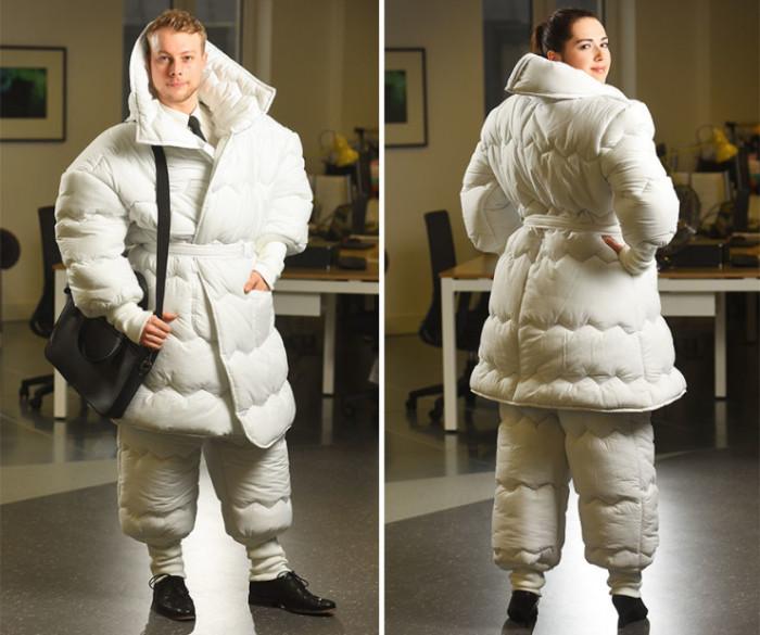 Дизайнер из Англии создал удивительную вещь - костюм, имитирующий одеяло, - «Suvet».