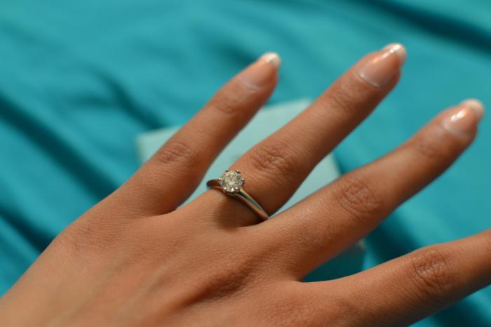 Многие девушки мечтают о помолвке с элегантным колечком «Tiffany Setting».