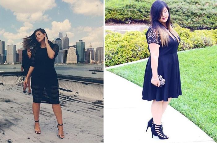 Маленькое черное платье - самый выигрышный вариант для девушек любой комплекции.