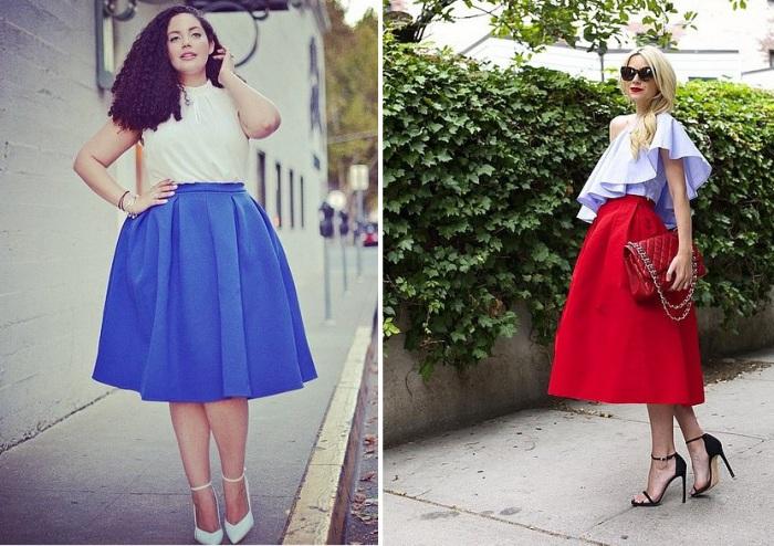 9f8ac9e56d6 Расклешенная юбка длины миди подойдет женщинам с любым типом фигуры.