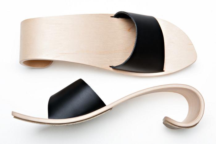 Обувь из дерева от финского дизайнера