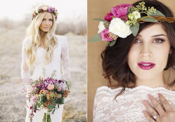 Цветочные венки на невестах