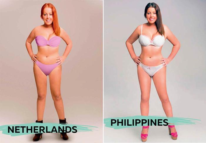 Проект «Восприятие красоты» («Perceptions of Perfection») показал, как выглядит красивая женщина в представлении нидерландцев и филиппинцев.
