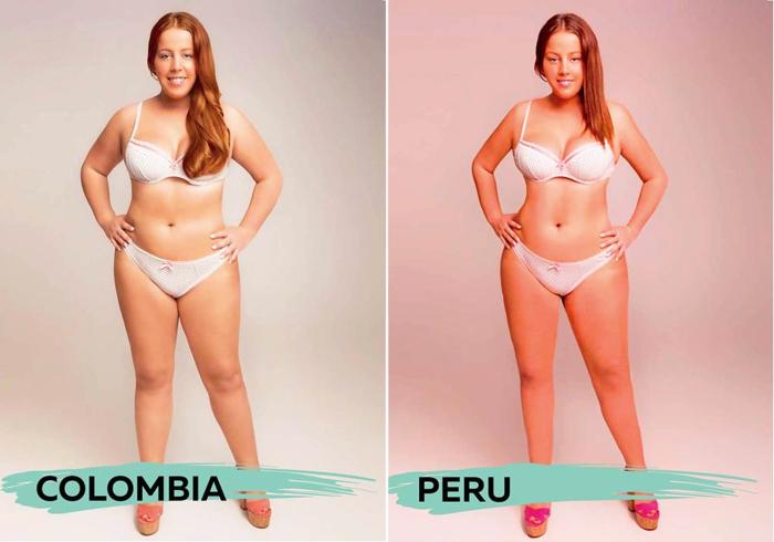 Идеал женской красоты для людей, проживающих на территории Колумбии и Перу, в проекте «Восприятие красоты» («Perceptions of Perfection»).