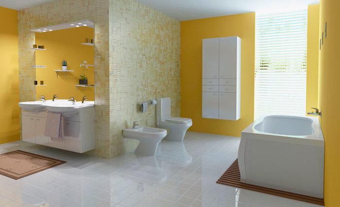 Для того, чтобы полы в ванной комнате блестели чистотой, веника и швабры недостаточно.