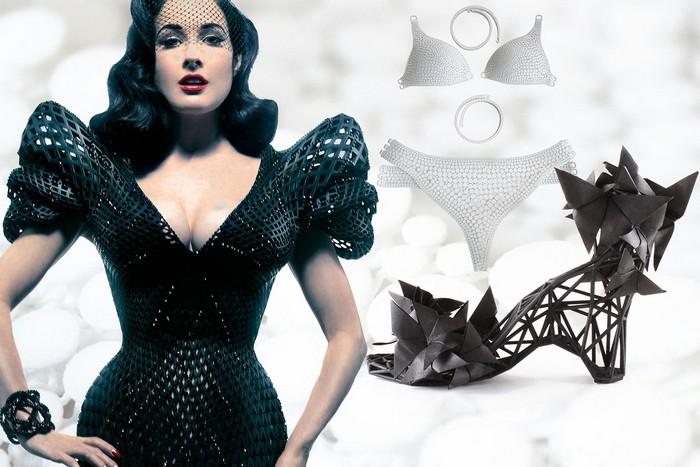 Модная одежда, напечатанная на 3D-принтере