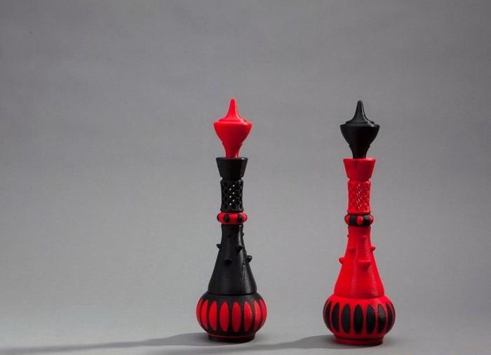 Шахматные фигуры, напечатанные на 3D-принтере