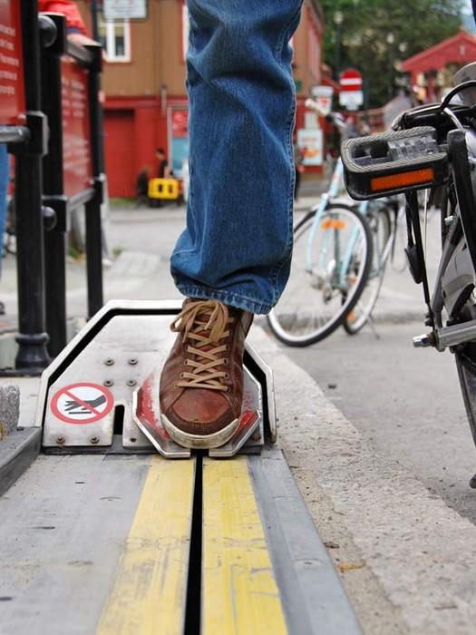 Подъемник для велосипедистов в Тронхейме