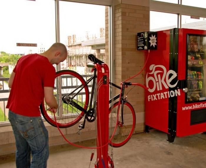 Bike Fixtation – торговый автомат для велосипедистов