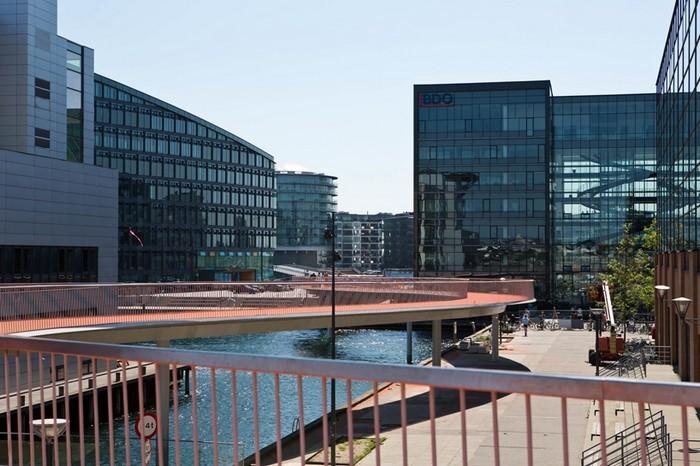 Cykelslangen – велосипедная эстакада в центре Копенгагена