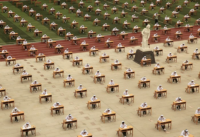 Экзамен в китайском ВУЗе