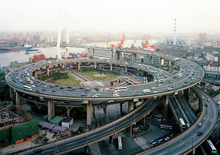 Автомобильная развязка в Шанхае