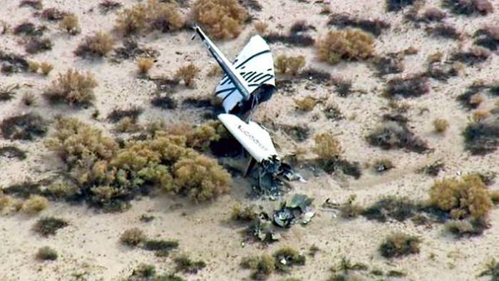 Частный космический челнок SpaceShipTwo VSS Enterprise после падения