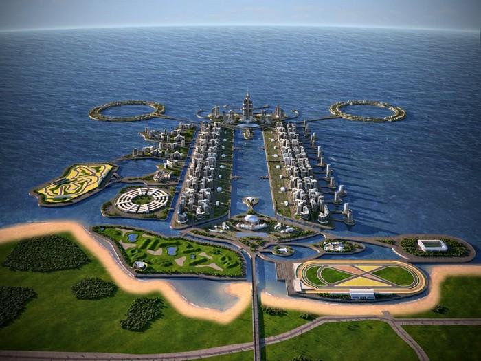 Khazar Islands – искусственный архипелаг в Каспийском море