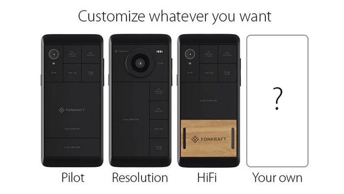 Три варианта сборки модульного телефона Fonkraft