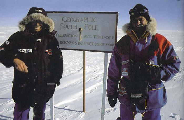 Райнхольд Месснер на Южном полюсе
