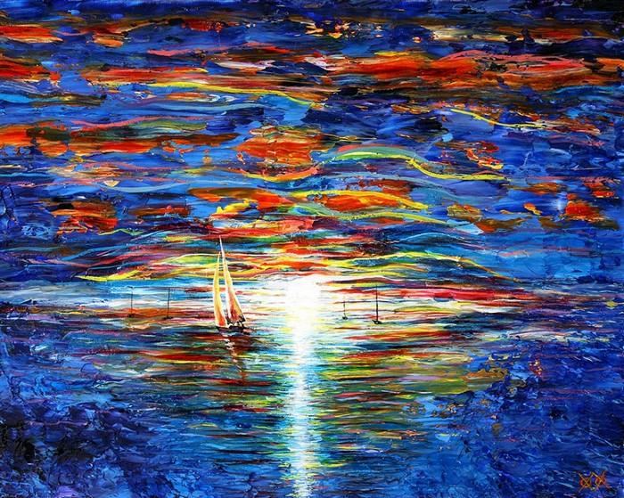 Картина слепого художника Джона Брамблитта