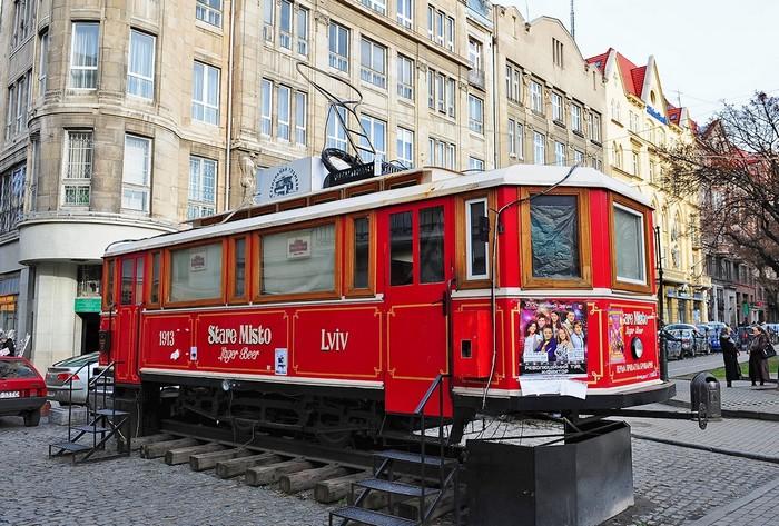 Ресторан в старом трамвайном вагоне