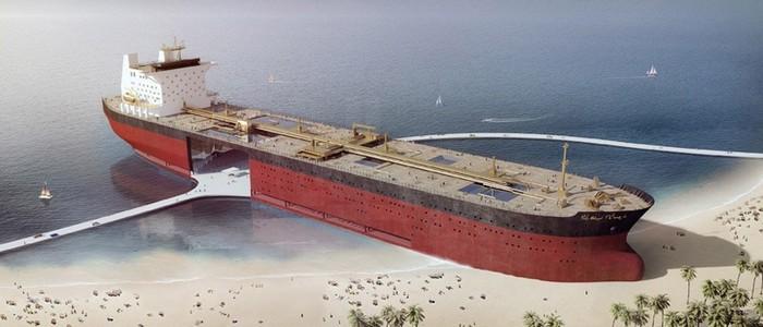 Black Gold Project: старый нефтяной танкер, который превратился в набережную