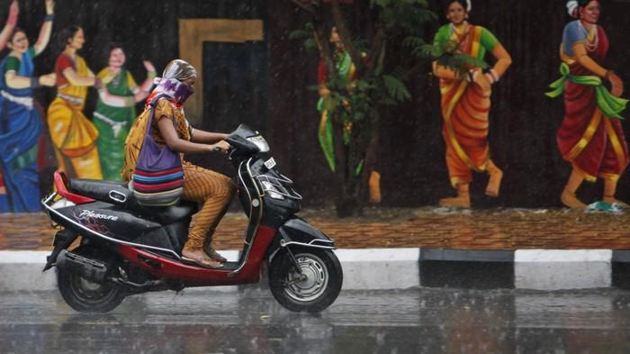 Мотороллер в Дели