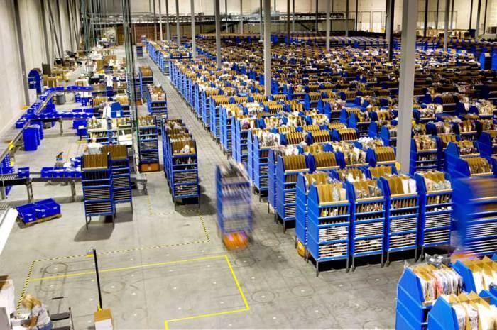 Почтовый склад будущего от компании Amazon