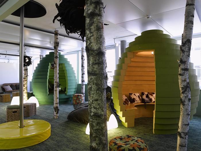 Необычные интерьеры офиса корпорации Google в Цюрихе