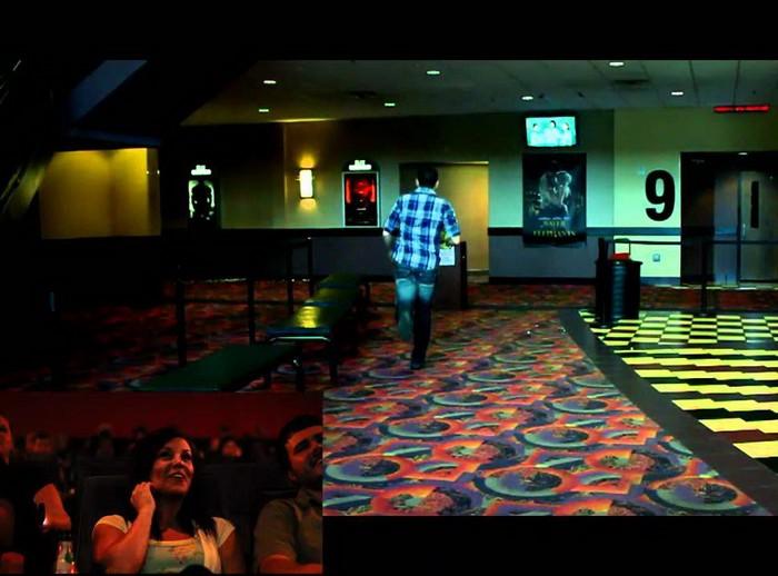 Мэтт Стил бежит в кинозал делать предложение своей любимой
