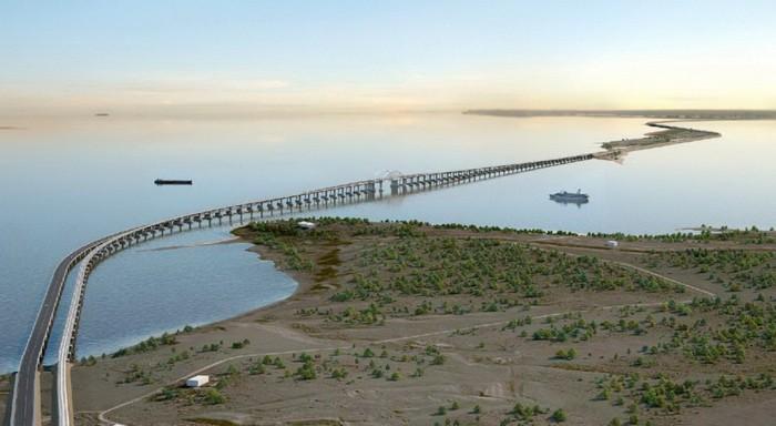 Проектный вид моста через Керченский пролив