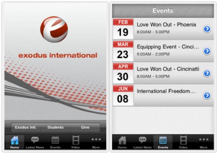 Exodus International - приложение для излечения гомосексуализма с помощью религии