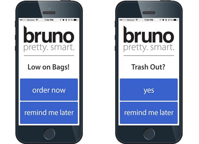 Bruno – мусорная корзина с функцией пылесоса