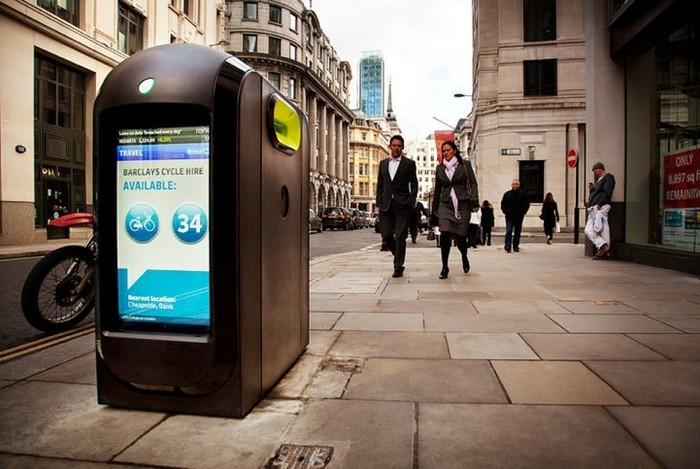 Мультимедийные мусорные урны в Лондоне