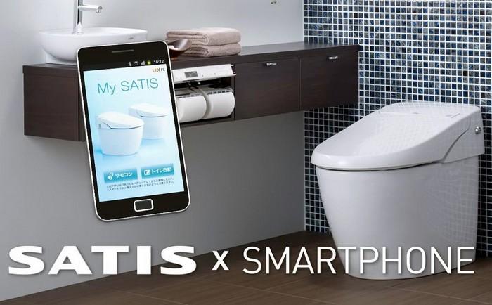 Inax SATIS – унитаз с управлением через смартфон