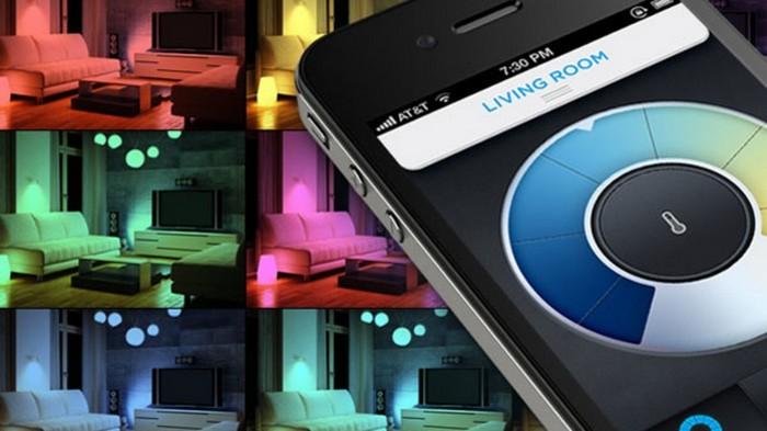 Светодиодные домашние лампочки под управлением смартфона