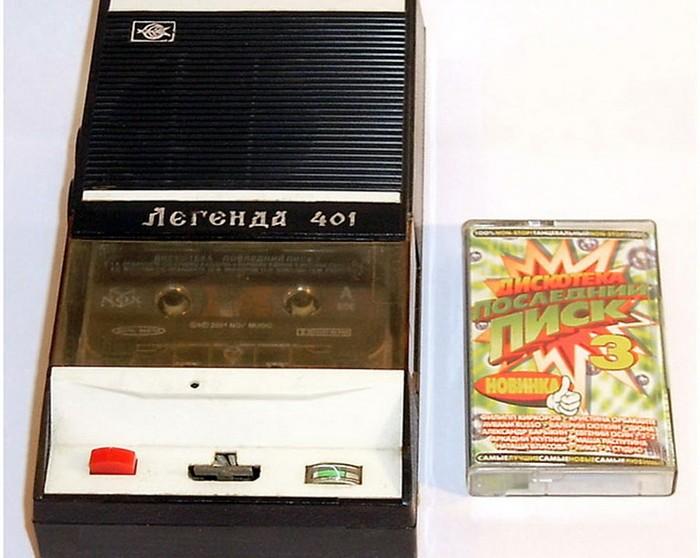 Советский кассетный аудиоплеер Легенда 401