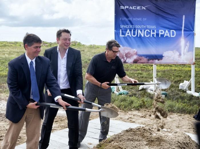 Закладка будущего космодрома компании SpaceX
