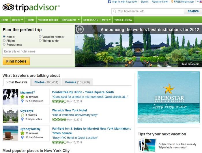 TripAdvisor - крупнейший в мире сайт отзывов от путешественников