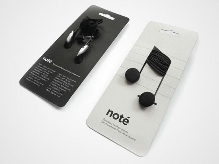 Музыкальная упаковка наушников Note
