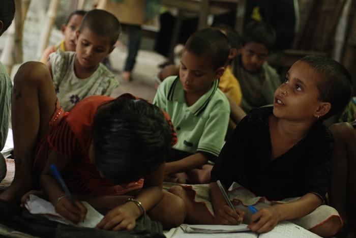 Школа для бедных детей в Индии