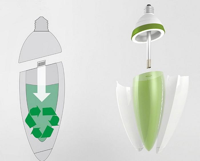 Algaebulb - лампочка, которая работает от энергии водорослей