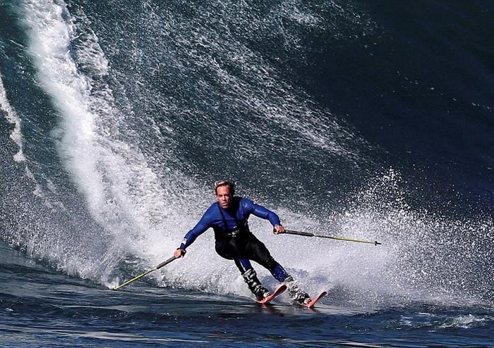 Серфинг на лыжах - новый экстремальный вид спорта