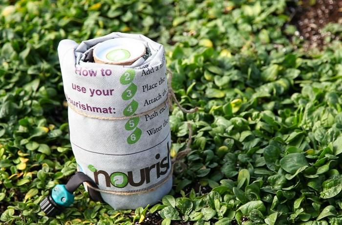 Nourishmat – скатерть-самобранка для огородничества в городских условиях