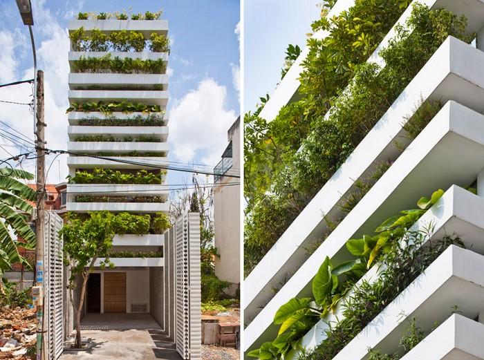 Stacking Green – жилой дом с огородами в окнах