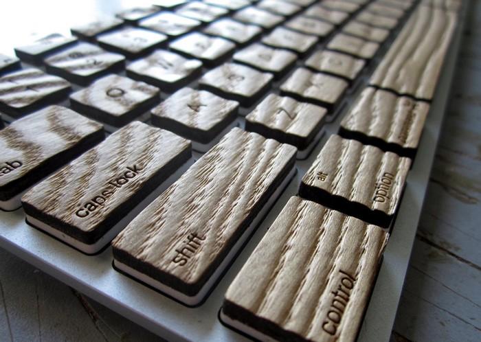 Стильная деревянная клавиатура Engrain Tactile Keyboard