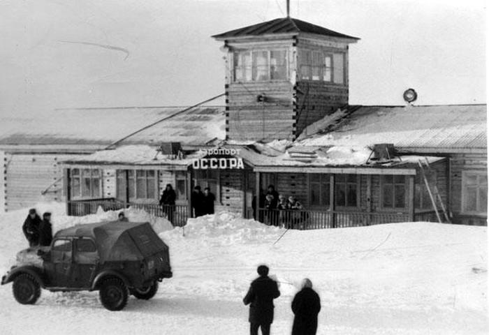 Архивная фотография аэропорта Оссора на Камчатке