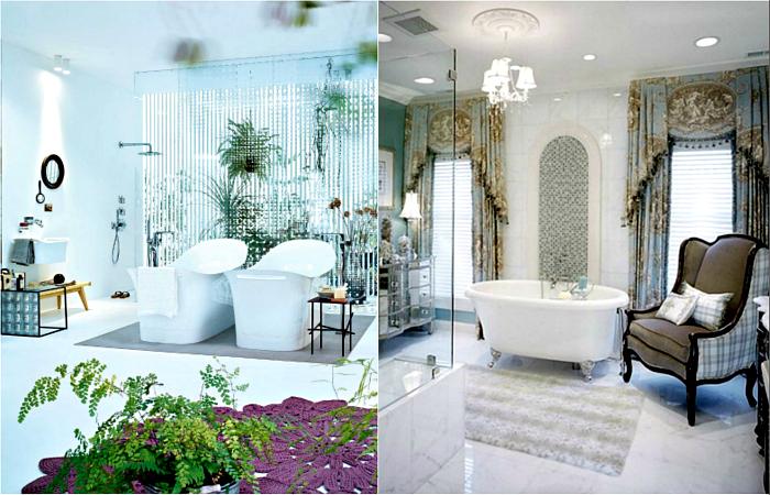 Необычные интерьеры ванных комнат.