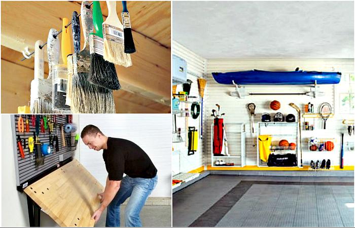 Идеи хранения инструментов в гараже.