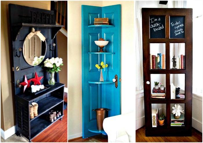Оригинальные изделия из старых дверей.