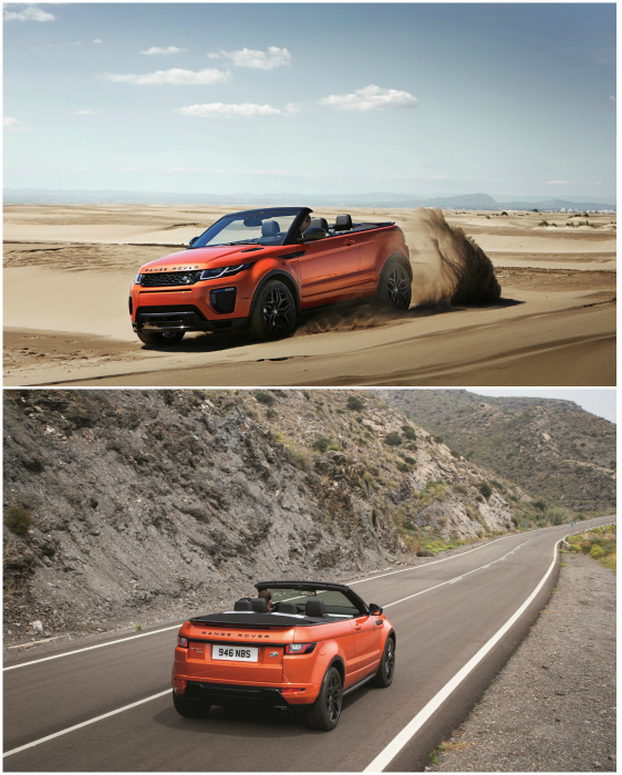 Четырёхместный кабриолет-кроссовер класса люкс марки Range Rover, которая всегда ассоциировалось исключительно с внедорожниками.