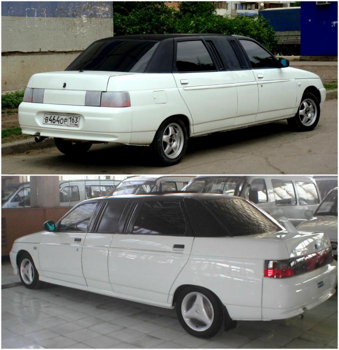 Экспериментальный отечественный лимузин на базе ВАЗ 2110. В отличии от других лимузинов, заднее сидение «Консула» рассчитано всего на два места.